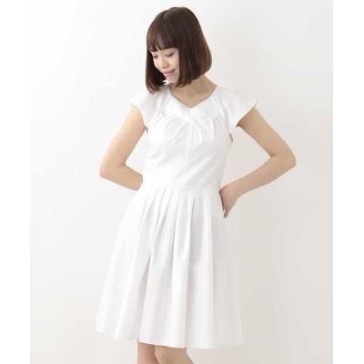 【タラジャーモン】 コットンデザインドレス  レディース ホワイト TL Tara Jarmon