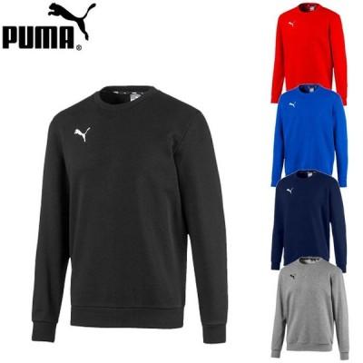 プーマ メンズ スウェット トレーナー 長袖 カジュアルウェア ワンポイント トップス サッカー フットサル スポーツウェア トレーニングウェア puma 656969