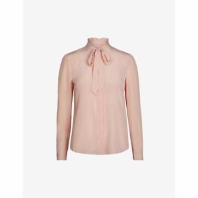 クローディ ピエルロ CLAUDIE PIERLOT レディース ブラウス・シャツ トップス Tie-collar silk blouse BLUSH