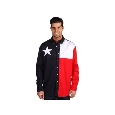 Roper Lu002FS Pieced Texas Flag Shirt メンズ シャツ トップス Natural