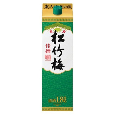 佳撰 松竹梅 サケパック 15度 紙パック 1.8L 1800ml x 6本 ケース販売 宝酒造 日本 京都府