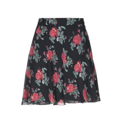 SAINT LAURENT ひざ丈スカート ブラック 36 レーヨン 100% ひざ丈スカート
