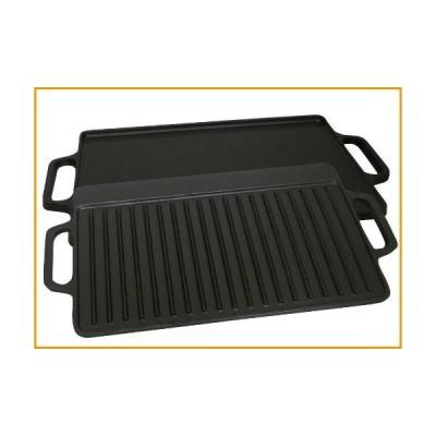 [新品]King Kooker CI28GSプレシーズン鋳鉄2面グリッドル、28インチ[並行輸入品]