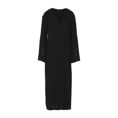 マニラ グレース MANILA GRACE 7分丈ワンピース・ドレス ブラック 40 レーヨン 100% 7分丈ワンピース・ドレス