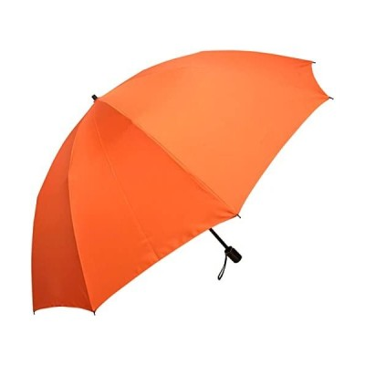折りたたみ傘-メンズ風に強い10本骨-昔ながらの2段式-テフロン超撥水-オレンジ