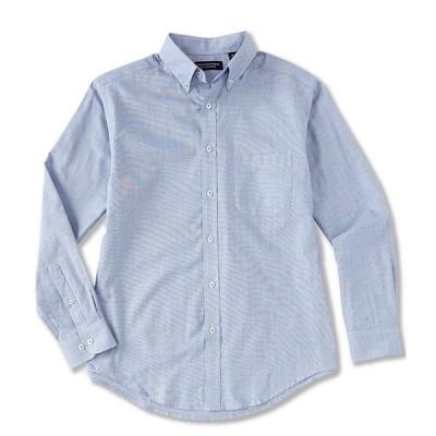 ラウンドトゥリーアンドヨーク メンズ シャツ トップス Luxury Cotton Long-Sleeve Dobby Sportshirt