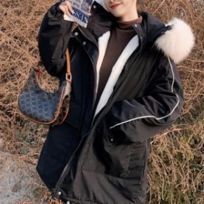 冬コートレディース 大きいサイズのレディース 秋冬新作 コート 韓国ファッション フェイクファー アウター ボア 秋新作 ゆったり 体型カ
