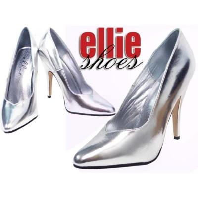 LA直輸入♪ellie shoes(エリーシューズ)ハイヒールパンプス/ピンヒール【シルバー】 レザー 合皮 パーティー フォーマル ダンス衣装 ウェディング