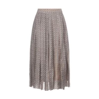 フェンディ レディース スカート ボトムス Fendi FF Motif Pleated Skirt -