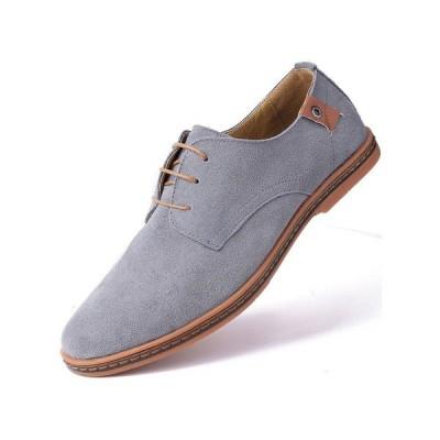 ミオマリオ オックスフォード シューズ メンズ Men's Classic Suede Derby Oxford Shoes Gray