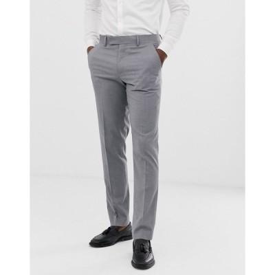エイソス メンズ カジュアルパンツ ボトムス ASOS DESIGN slim suit pants in mid gray Grey