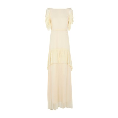 ピンコ PINKO ロングワンピース&ドレス ベージュ 40 レーヨン 100% ロングワンピース&ドレス