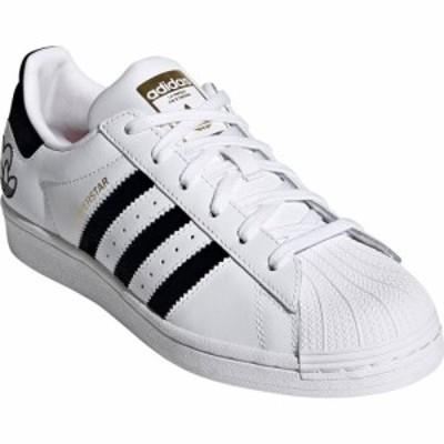 アディダス ADIDAS レディース スニーカー シューズ・靴 Superstar Embroidered Valentines Sneaker White/Core Black/Gold