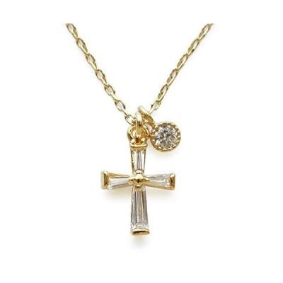 ジュエルボックス JewelVOX ネックレス ニッケルフリー クロス 十字架 2タイプ キュービックジルコニア ショート 金属アレルギー対