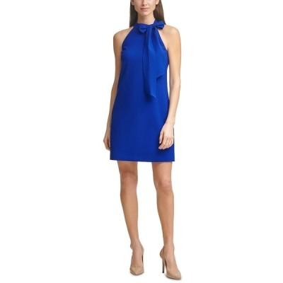 ヴィンスカムート ワンピース トップス レディース Bow-Neck Halter Dress Cobalt