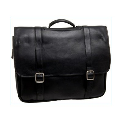 Latico Leathers Heritage Laptop Merger Briefcase, Authentic Luxury Leather, Designer Fashion, Top Quality Leather, Black, one size並行輸入品