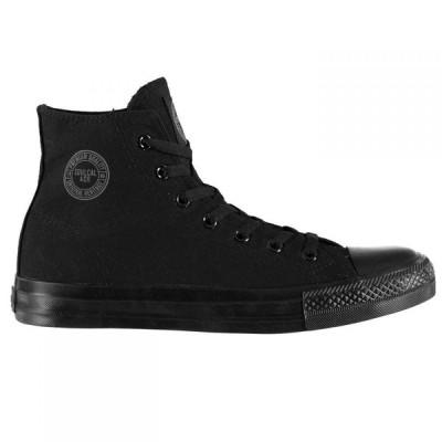 ソウルカル SoulCal メンズ スニーカー シューズ・靴 Canvas High Trainers Black/Black