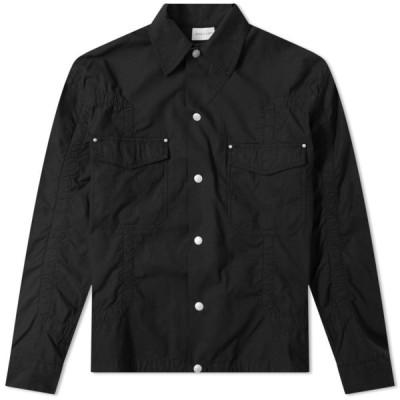 ジョン エリオット John Elliott メンズ シャツ シャツジャケット トップス Cotton Poplin Frame Snap Overshirt Black