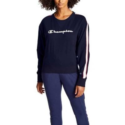 チャンピオン レディース パーカー・スウェット アウター Champion Women's Heritage Crew Fleece Sweatshirt Athletic Navy