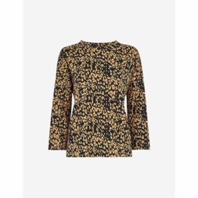 ホイッスルズ WHISTLES レディース トップス Safari leopard-print cotton top MULTI-COLOURED