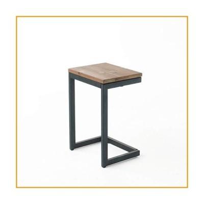 [新品]Christopher Knight Home Caspian Outdoor Firwood C Shaped Table, Antique Finish 141[並行輸入][並行輸入品]