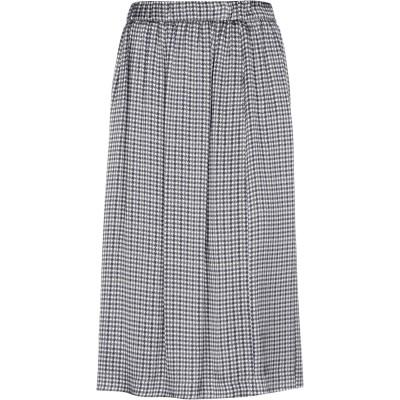 CAPPELLINI by PESERICO 7分丈スカート ダークブルー 42 レーヨン 100% 7分丈スカート