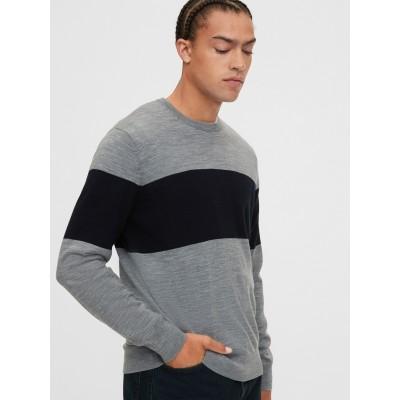 メリノクルーネックセーター