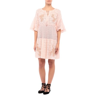 ICONIQUE ビーチドレス ライトピンク S リネン 60% / コットン 40% ビーチドレス