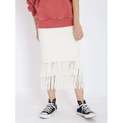 【アングリッド/Ungrid】 フリンジニットスカート