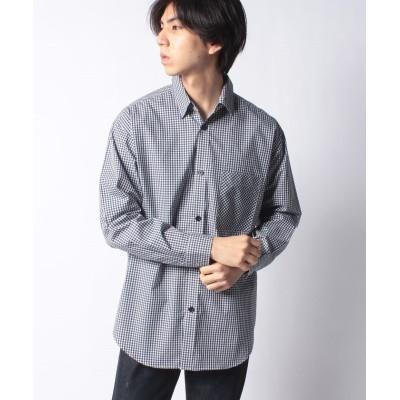 【コムサイズム】 オーバーサイズシャツ メンズ ギンガム2 S COMME CA ISM