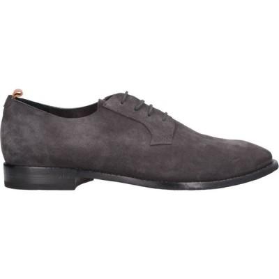 ブッテロ BUTTERO メンズ シューズ・靴 laced shoes Steel grey