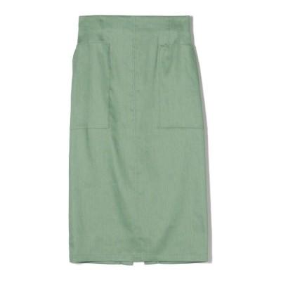 スカート ESTNATION / リネンタイトミディスカート