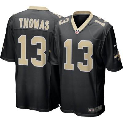 ナイキ Nike メンズ トップス New Orleans Saints Michael Thomas #13 Black Game Jersey