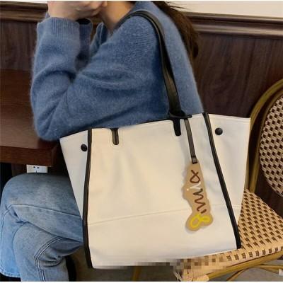 【季節にピッタリ!】 INSスタイル 女性 大容量 韓国 百掛け 軽量 シンプル ハンドバッグ ファッション ショルダーバッグ エレガント カジュアル