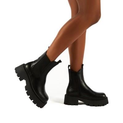 パブリックデザイア レディース ブーツ・レインブーツ シューズ Public Desire Innovator chunky chelsea boots in black