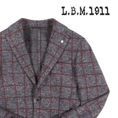 L.B.M.1911(エルビーエム) ジャケット 2865 ネイビー x ブラウン 48 【A22480】