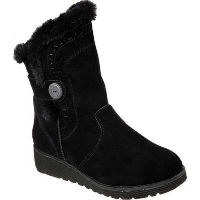 スケッチャーズ Skechers レディース ブーツ ウェッジソール シューズ・靴 Keepsakes Wedge Cozy Peak Mid Calf Boot Black