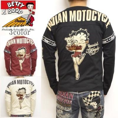 インディアンモトサイクル ベティブープ Indian Motocyacle BBI-941 天竺 長袖Tシャツ BETTY ロンT メンズ