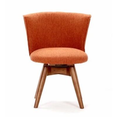ダイニングチェア 回転 ファブリック オレンジ ( 椅子 チェア イス いす パソコンチェア オフィスチェア ハイバック )
