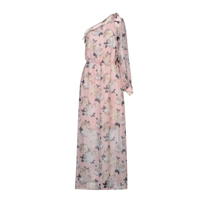 RUBENDELLARICCIA ロングワンピース&ドレス ピンク 40 ポリエステル 100% ロングワンピース&ドレス
