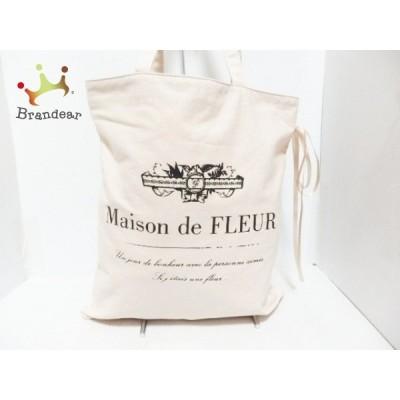 メゾンドフルール Maison de FLEUR トートバッグ ピンクベージュ コットン  値下げ 20200704