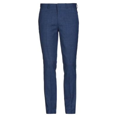 SELECTED HOMME パンツ ブルー 56 ポリエステル 54% / ウール 24% / リネン 20% / ポリウレタン 2% パンツ