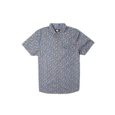 リップカール カジュアルシャツ トップス RIP CURL メンズ フラワー FIELD S/S WOVEN SHIRT デニム ブルー M ミディアム D167 RP54.50