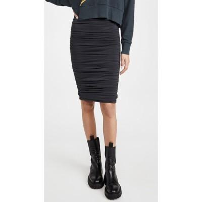 アリス アンド オリビア alice + olivia レディース ひざ丈スカート スカート Melanie Fitted Shirred Skirt Black