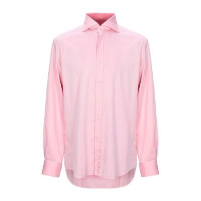 XACUS シャツ ライトピンク 43 コットン 100% シャツ