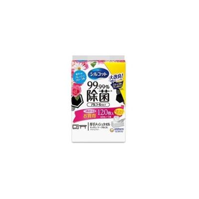 [ユニチャーム]シルコット 99.99%除菌ウエットティッシュ フローラルの香り 詰替え 40枚×3個