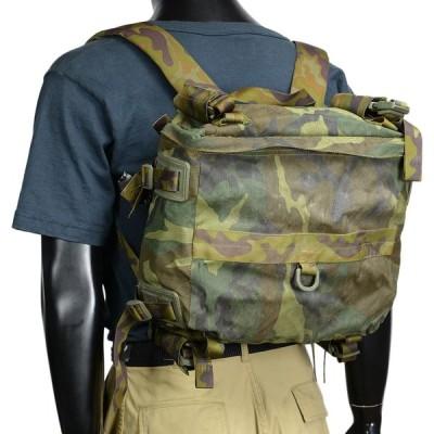 イタリア軍放出品 バックパック スモールサイズ 約20L ウッドランドカモ柄 [ Bランク ] リュックサック デイパック 払下げ品 ザック
