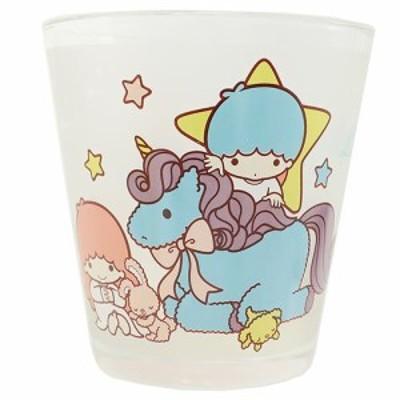 ◆《キッチン雑貨》 ツインスターズキキ&ララ   フロスト グラス(サンリオアニメ、おしゃれ コップ  食器(D57)