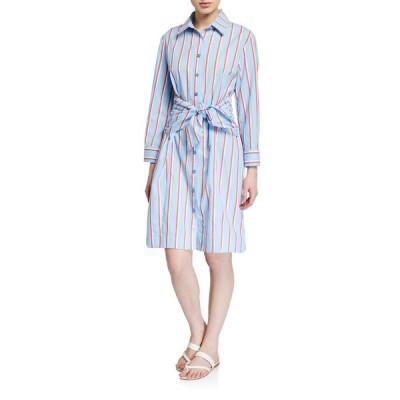 フィンレイ レディース ワンピース トップス Petite Ellis Sparkle Stripe Shirtdress