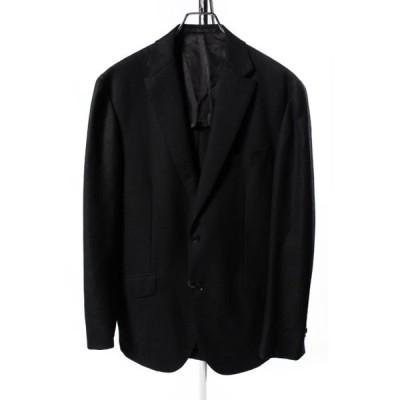 【中古】リングヂャケット RING JACKET ジャケット テーラード 背抜き ウール 48 黒 ブラック /☆a0424 メンズ 【ベクトル 古着】